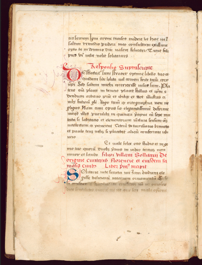 Filippo Villani Liber de origine urbis Florentiae