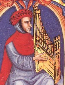 Francesco Landini with organetto Squarcialupi codex